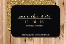 Wedding invites and save the date