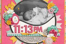 Scrapbook Nascita DIY / Raccolta di idee per creare un quaderno dei ricordi per la nascita e crescita del bambino.