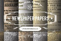 NEWSPRINTS PAPERS / DIGITAL PAPERS - NEWSPRINTS PAPERS BY DIGITAL PAPER SHOP