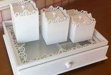 caixa decorada d madeira