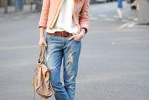 Trendy clothes.