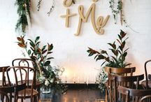 Ceremony styling florals
