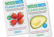 Flashcards / We have updated our flashcards.  There are two packs, the foods in each pack are different.  The cards have the food image and weight on one side and the same food with the nutrient values on the other side.  The perfect visual teaching aid for carb counting. http://www.carbsandcals.com/books/flashcards #diabetes #patienteducation