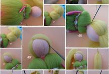 felted dolls and other