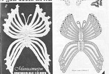 БАБОЧКИ (Crochet butterfly)