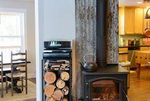 Wood burner surround