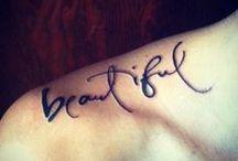 Tattoo-Schriftzüge