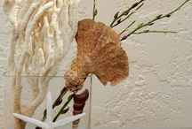 Coastal, Beach, Sea, Casual Decor Ideas /  Silk Floral arrangements, Sea life Natural Sea shells, starfish, sponges, stones, acrylic water and realistic silk floral combined to reflect the beauty of the sea / by La VOGA