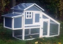 Plastic Chicken Coop / Our new range of plastic/ wood hybrid chicken coops. Easy to maintain and clean and a stylish edition to any garden.