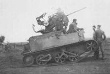 Captured universal carrier plus flak weapon