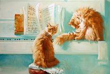 Maria Pavlova. Cats.