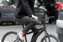 Glam Urban Bike Riders / Images of women with a chic sense of style cycling in urban places.