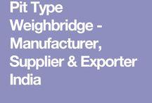 Pit Type Weighbridge - Manufacturer, Supplier & Exporter India