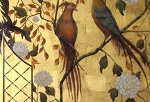 """Chinoiserie / Chinoiserie, a French term, signifying """"Chinese-esque"""", refers to a recurring theme in European artistic styles since the seventeenth century, which reflect Chinese artistic influences. It is characterized by the use of fanciful imagery of an imaginary China.Various European monarchs, such as Louis XV of France, gave special favor to Chinoiserie, as it blended well with the rococo style. Entire rooms, such as those at Château de Chantilly, were painted with Chinoiserie compositions."""