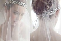 Bridal hair headpiece veil