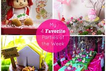 Favorite Parties of the Week / Every week I pick my four favorite parties, they are always amazing!  See more party ideas at CatchMyParty.com.