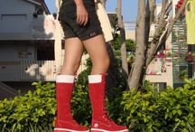 very nice red boots