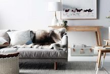warm neutral grey / Interior colour scheme greige and warm gray