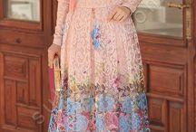 Dantelli Prenses Elbise / tesettür , tesettür giyim , tesettür elbise