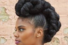 Updos | Natural Hair Protective Styles / This board features updos on natural hair for protective styling.