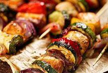 spiedinidi carne e verdure