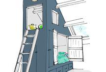 Interieur styles , attick
