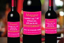 +30 Bridesmaid Wine Labels