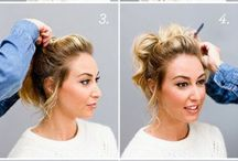 Easy bun for short hair
