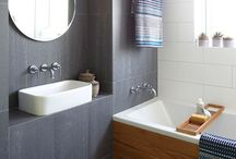 Bathrooms and Laundry's / Inspired bathrooms and laundry's using natural timbers, white tiles and contemporary finishes.