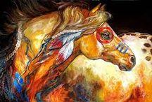 ~Indian horses~ / Indian horses, paints, appaloosa, mustangs Peintures, ornements Tableau, dessin