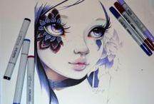 Frozen eye girl