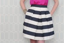 I like stripes / Preppy influenced fashion and home decor