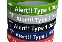 Diabetes Medical Alert Bracelets / Medical alert bracelets for people with Type 1 and Type 2 Diabetes.