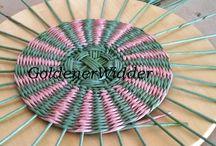 Дно и крышка плетеные круглые / Плетение из газет