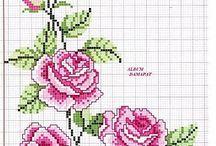 Róże haft krzyżykowy