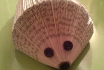 folded book pages and other crafts