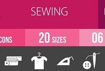 Sewing Glyph Inverted Icons
