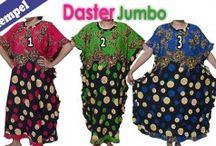 daster jumbo / daster batik ukuran jumbo dengan bahan dasar shantung yang adem dan nyaman dipakai