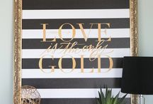 Black and Gold / by Chloe Crabtree - CelebrateAndDecorate.com