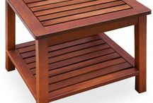 Wooden Coffee Table Side Garden Furniture Outdoor Living Room Patio Storage Unit