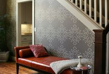 stencilled rooms