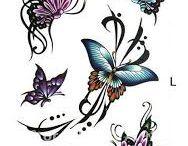 Tatuaże motyle