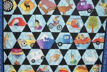 """I Spy Quilts / Les quilts """"I Spy"""" : hexagones et triangles et pas de coutures en Y !"""