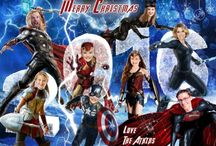 Superhero Christmas Card / Become the AVENGERS on your Christmas card. Family Photo Portrait Christmas cards, Photoshopped Christmas cards, Unique family Christmas cards. You supply the photos and I will expertly drop them onto the characters.