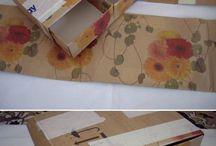 Reciclagem com caixa de papel