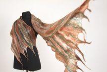 woman felt scarf