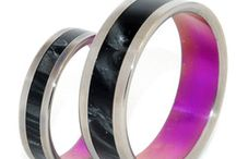 Not Afraid of a Little Color! / A customer once commented that we were a titanium wedding ring company who wasn't afraid of a little color, and we wholeheartedly agree!