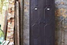 Vintage Finish Metal Industrial Furniture