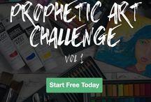 Prophetic Art Challenge, Vol. 1 / Free Prophetic Art Challenge by Rebekah R Jones, with prophetic art video tutorial and spiritual teaching, to grow in God through creativity!