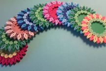 Quilled coasters
